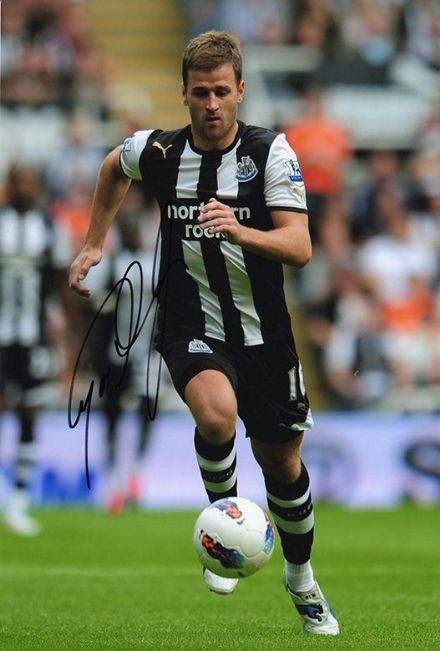 Ryan Taylor, Newcastle Utd, signed 12x8 inch photo.